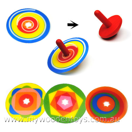Multi Top Wooden Spinning Top