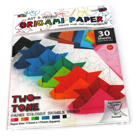 Origami Paper 2 Tone 30 Sheets