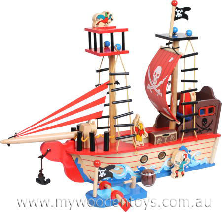 How To Make Toy Pirate Ship 30