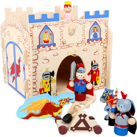 Wooden Toy Castle Playset