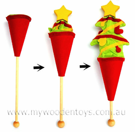 Pop Up Christmas Tree Cone Puppet