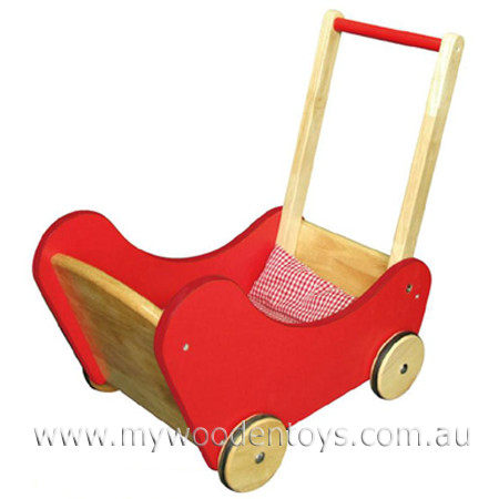 Wooden Toy Doll Buggy Pram