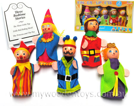 King Queen Kingdom Finger Puppets