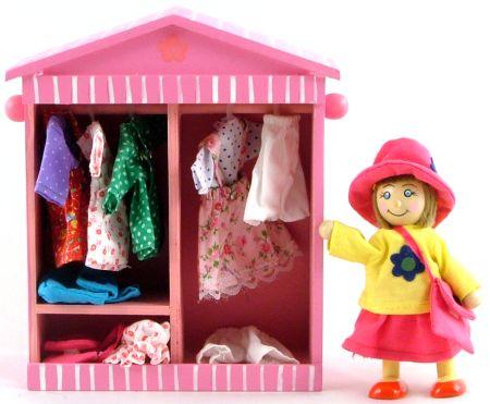 Wooden Toys Sandras Wardrobe