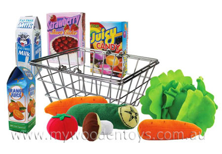 Shopping Basket Food Playset