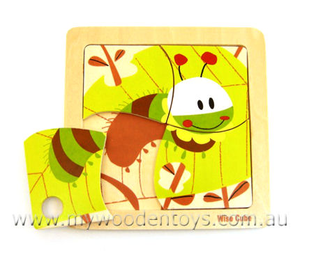 Simple Wooden Caterpillar Puzzle
