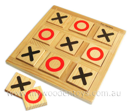 Simple Wooden Naughts & Crosses