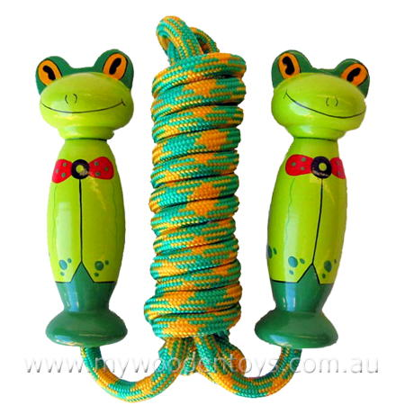Wooden Skipping Rope Frog