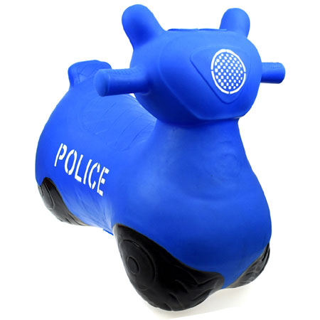 Bouncy Ride On Hopper Blue Police Bike