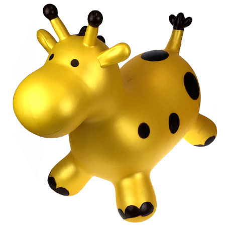 Bouncy Ride On Hopper Gold Giraffe