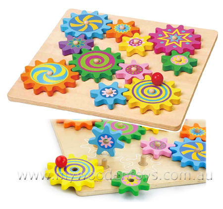 Spinning Gear Puzzle Board