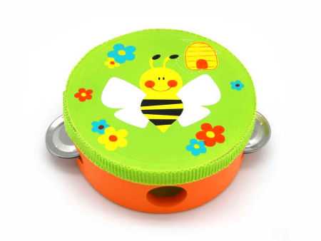 Wooden Toy Tambourine Bee