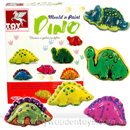 Craft Mould & Paint Dinosaurs