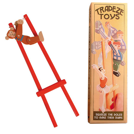 Acrobat Monkey Wooden Squeeze Toy
