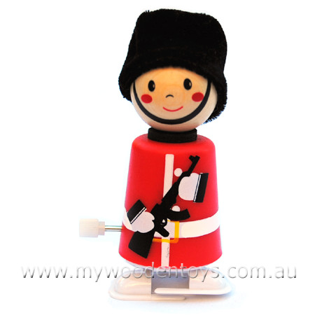 Wooden Wind Up Clockwork Soldier