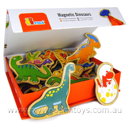 Wooden Toys Magnetic  Dinosaurs