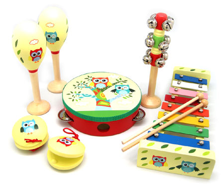 Wooden 7pcs Music Set Owl