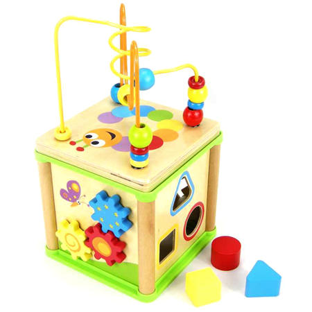 Activity Cube Five In One My Wooden Toys