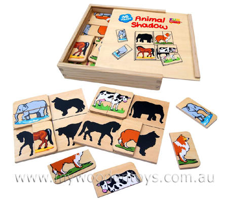 Wooden Animal Shadow Puzzle