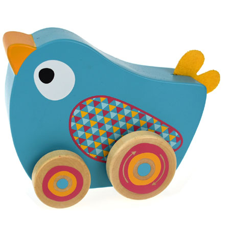 Wooden Walking Music Box Bird