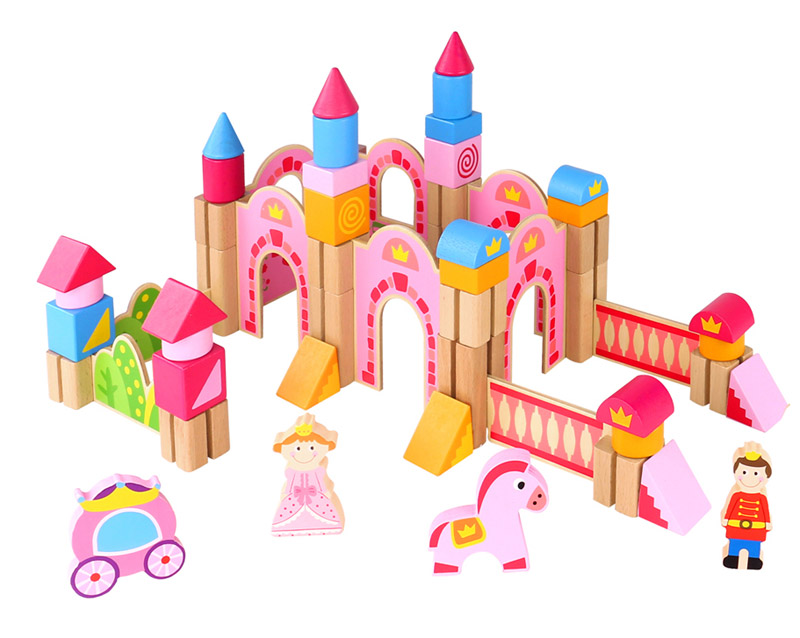 Wooden Blocks Princess Castle