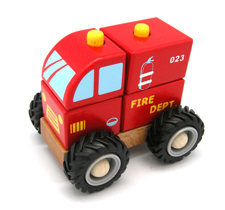 Take Apart Wooden Block Fire Engine