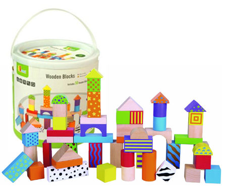 Wooden Blocks In Tub 50pc
