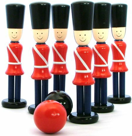 Bowling Soldiers Wooden Skittle Game