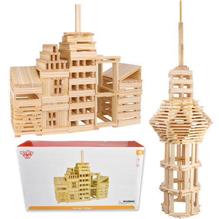 Wooden Building Planks 250 Pieces