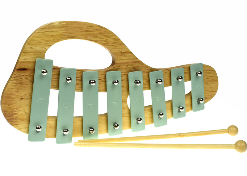 Wood and Metal Curved Xylophone