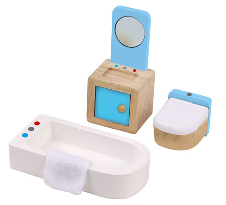 Wooden Dolls House Bathroom Furniture