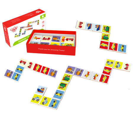 Wooden Toy Dominoes Transport