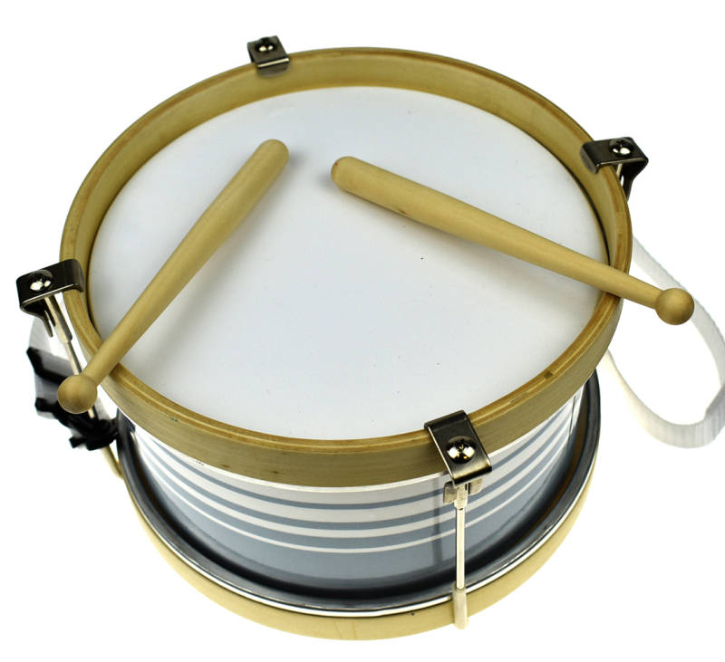 Wooden Marching Drum Grey