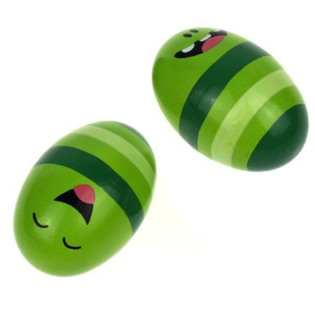 Wooden Egg Shakers Green
