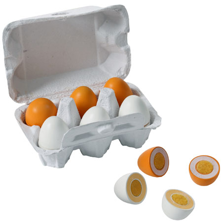 Wooden Eggs Joined with Velcro