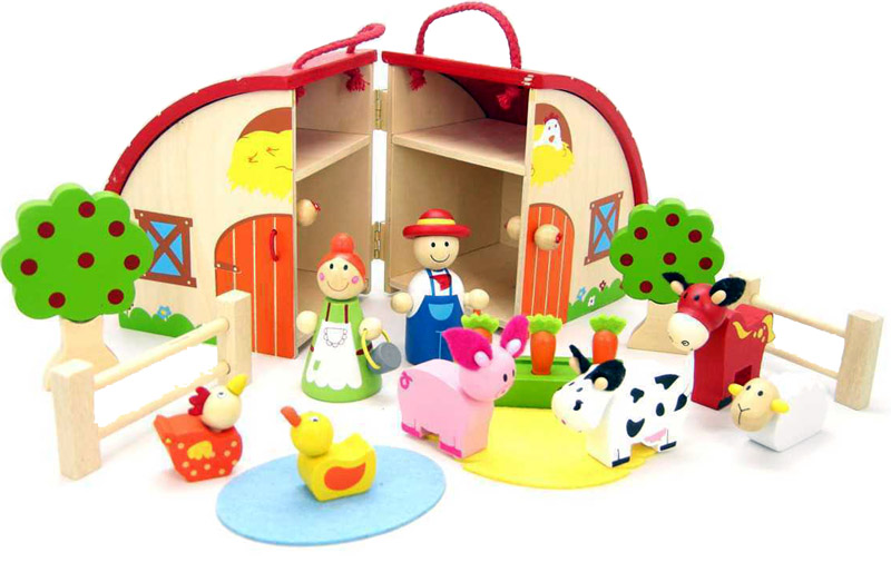 Farm House Wooden Play Set