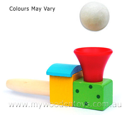 Ball Blower Wooden Toy Game