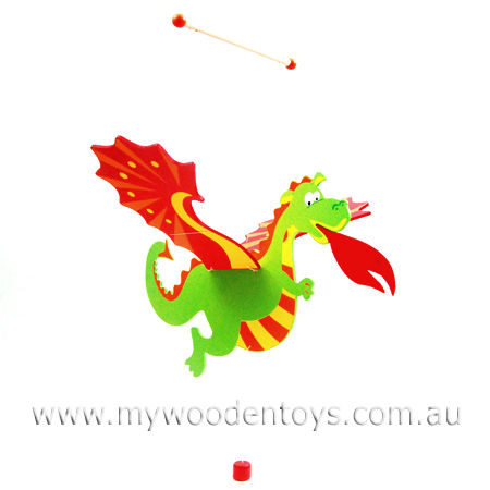 Wooden Flying Dragon Mobile
