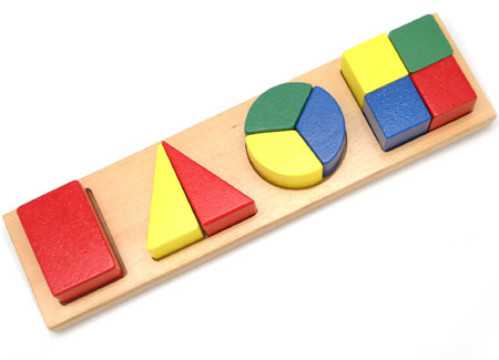 Educational Fraction Wooden Puzzle