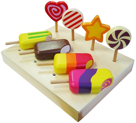 Wooden Ice Creams & Lollipops Playfood at My Wooden Toys