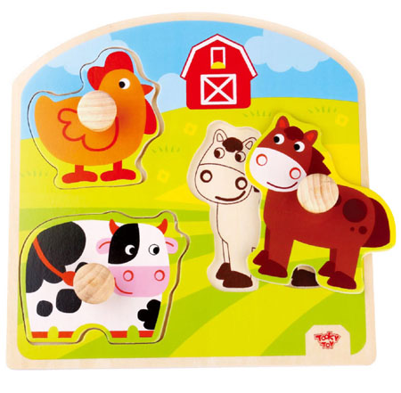 Knob Puzzle Farm Animals