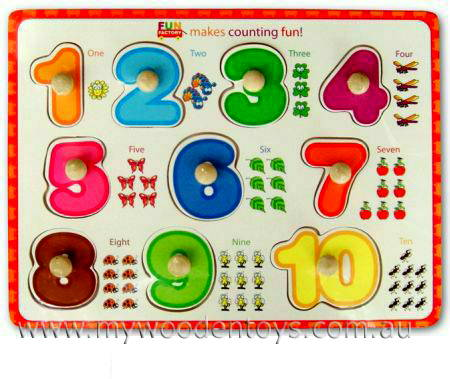 Knob Puzzle Numbers
