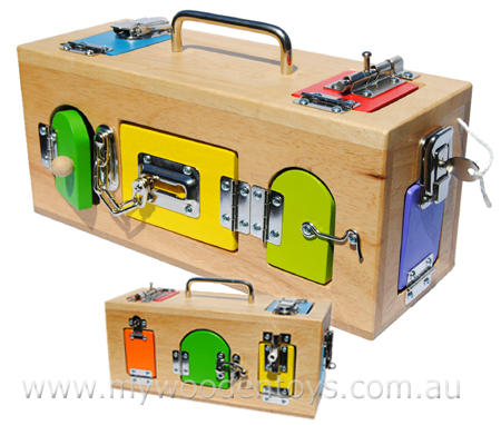Wooden Toy Lock Activity Box