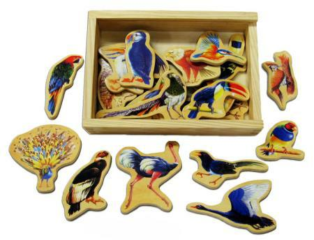 Wooden Toys Magnetic Birds