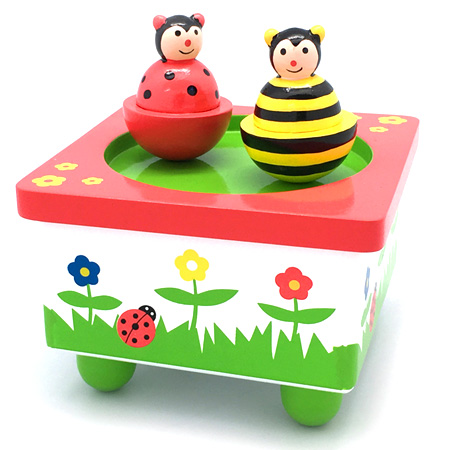 Music Box Wooden Dancing Bee And Bug