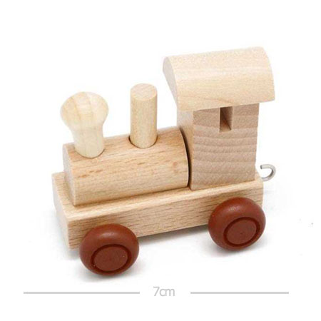 Wooden Name Train Engine