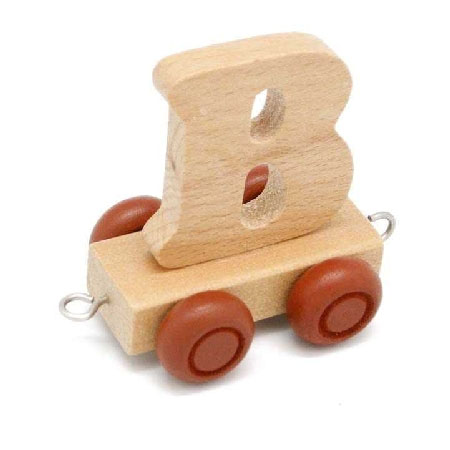 Wooden Name Train Letter B