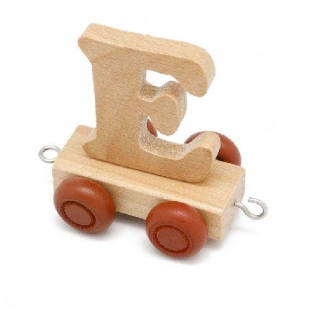 Wooden Name Train Letter E
