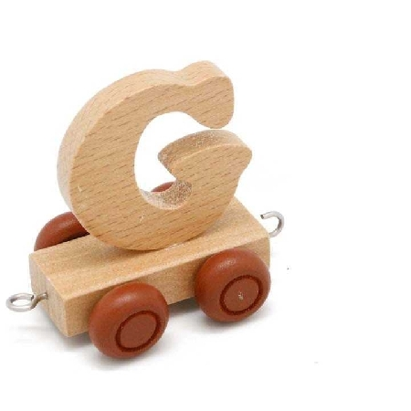 Wooden Name Train Letter G