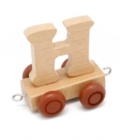 Wooden Name Train Letter H